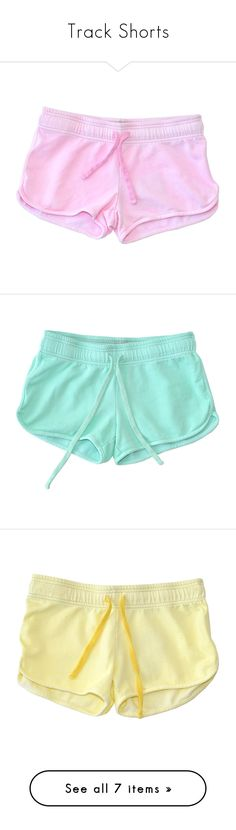 """Track Shorts"" by londonhazz ❤ liked on Polyvore featuring shorts, bottoms, pajamas, clothing - shorts, scallop hem shorts, cotton shorts, scalloped edge shorts, cotton citizen, light pink shorts and short"