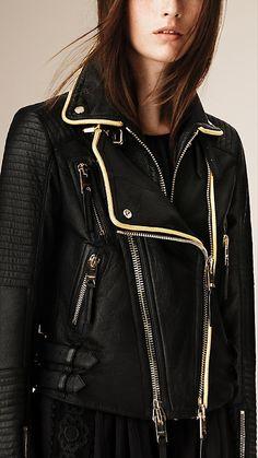 Black The Biker Jacket - Image 4