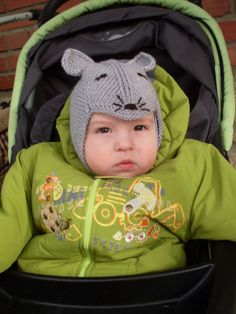 Блог Костроминой Натальи: Детская шапка Мышка.