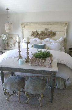 Shabby chic bedroom decoration ideas (37) #shabbychicfurniturewhite