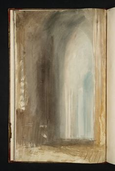 I LOVE this...Joseph Mallord William Turner, 'Interior of a Cathedral; St Peter's' 1819(sketch book)