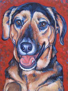 9 x 12 Custom Pet Portrait Painting in Acrylic by bethanysalisbury, $140.00
