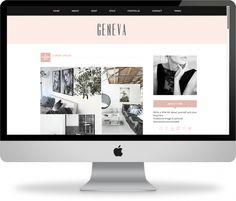 Geneva - Premade Blogger Template | Geneva is a chic and modern premade Blogger template that is super easy to install!