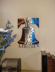 Excited to share this item from my shop: Give Me Liberty- Plasma cut metal wall decor/sign bell Welding Art Projects, Crafty Projects, Bell Art, Scrap Material, Plasma Cutting, Metal Wall Decor, Metal Signs, Metal Walls, Photo Wall Art