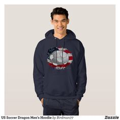 US Soccer Dragon Men's Hoodie - Stylish Comfortable And Warm Hooded Sweatshirts By Talented Fashion & Graphic Designers - #sweatshirts #hoodies #mensfashion #apparel #shopping #bargain #sale #outfit #stylish #cool #graphicdesign #trendy #fashion #design #fashiondesign #designer #fashiondesigner #style