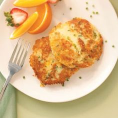 Au Gratin Potato Pancakes Recipe from Taste of Home -- shared by Cathy Hall of Phoenix, Arizona
