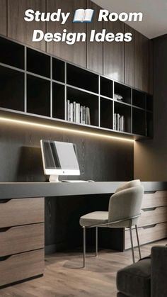 Study Room Design, Home Library Design, Home Room Design, Office Interior Design, Office Interiors, House Design, Office Cabinet Design, Modern Room Design, Interior Designing