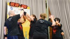 Nothing but love and team spirit from Luke's Barbell Club!  West Coast Kettlebell Classic 2014 photo by Christy McDonald