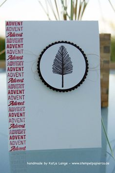 Advent - Adventskarte - Totally Trees - Weihnachtspotpourri / Merry Medley - Stampin' Up!