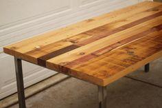 Arbor Exchange | Reclaimed Wood Furniture: Patchwork Table w/ Metal Tubing Base