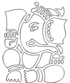 Things Often Speak to Me: Zentangle Ganesha Calling. Ganesha Sketch, Ganesha Drawing, Lord Ganesha Paintings, Ganesha Art, Ganesha Rangoli, Doodle Art Drawing, Mandala Drawing, Mandala Art, Outline Drawings