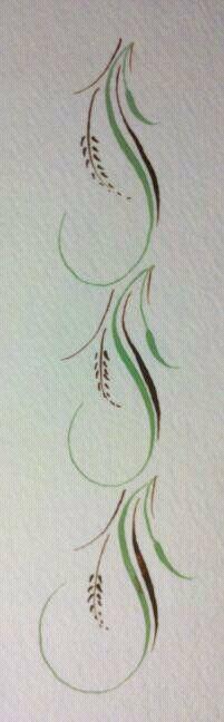 pointed pen border, simple yet elegant