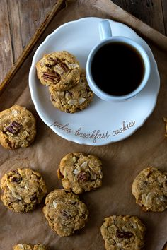 Paleo Breakfast Cookies (Grain Free Dairy Free) Be sure to note the instructions at the end regarding the sources for the flours! (Bob's Red Mill is a no-go!)