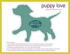 puppy applique