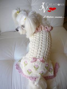 Beautiful hand knit dress