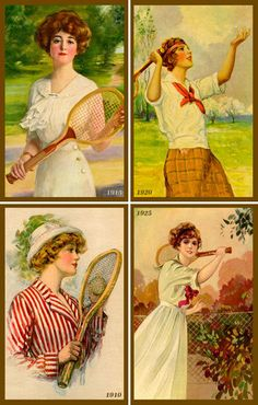Olde America Antiques | Quilt Blocks | National Parks | Bozeman Montana : Sports - Tennis Set 1