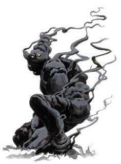 Enenra- Japanese folklore: a creature composed entirely of smoke. It resided in bonfires and it could take the form of a human. It could only be seen by those who have a pure heart.