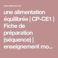 une alimentation équilibrée | CP-CE1 | Fiche de préparation (séquence) | enseignement moral et civique :: Edumoov