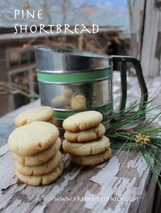 """Pine needle shortbread cookies and other recipes from our adventures on """"The Lost Road"""""""