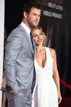 Chris Hemsworth and Elsa Pataky at Avengers, Age of Ultron Premiere