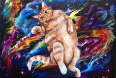Where My Cat Goes At Night Molly Oleson Acrylics 2017 http://ift.tt/2kYBQtZ