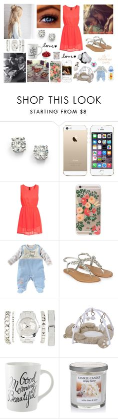 """Morning with the entire family"" by louisericoul ❤ liked on Polyvore featuring Saks Fifth Avenue, H&M, Rifle Paper Co, Monsoon, Charlotte Russe, Carter's, Disney and Yankee Candle"