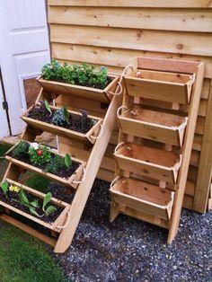Vertical Wooden Box Planter | The Owner-Builder Network