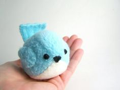 Handmade Pudgy Bird Stuffed Animal in Aqua by bubbletime on Etsy