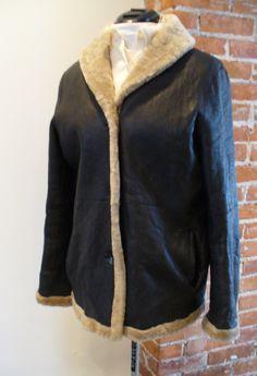 Vintage Made in  Argentina Sheepskin Jacket Size S by TheOldBagOnline on Etsy