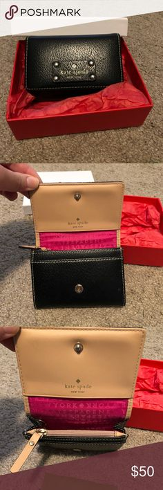 Kate Spade wallet Gently used Kate spade wallet! ID holder on back, space for money, coins and cards. kate spade Bags Wallets