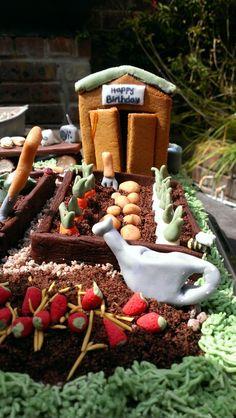 Dad's garden birthday cake 3