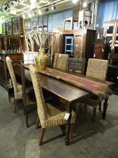 "Eight Foot Dining Table  PC549 - $515  96""W x 45""D x 31""H  #NadeauNashville"