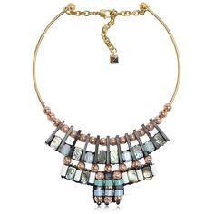 Nocturne Women Caribu Choker (1 355 PLN) ❤ liked on Polyvore featuring jewelry, necklaces, accessories, multicolor, beaded choker necklace, seashell necklace, multi color beaded necklace, beaded choker and chain necklace