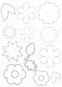 Crochet ideas that you'll love Felt Flowers Patterns, Felt Patterns, Fabric Flowers, Paper Flowers, Felt Diy, Felt Crafts, Easter Crafts, Diy And Crafts, Leaf Template
