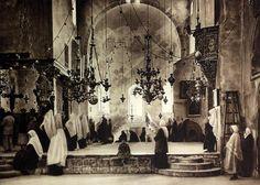 1925 BETHLEHEM Church Nativity SERVICE Photogravure West Bank Palestine Print
