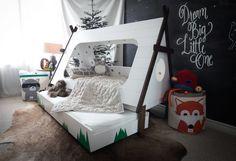 Bett mit Zelt, zusätzlich noch ein Gästebett, fürs Kinderzimmer