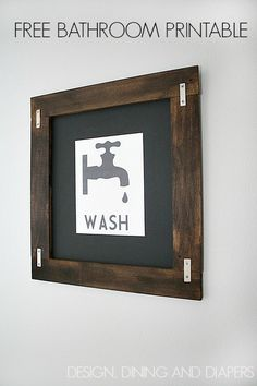 Definitely need this in the kids bathroom! Vintage Wash Printable at designdininganddiapers.com