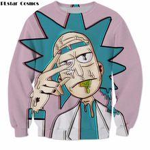 PLstar Cosmos Cartoon Rick and Morty Sweatshirts Men Women Streetwear Hipster Pullovers Funny Scientist Rick 3d Print Sweatshirt(China)