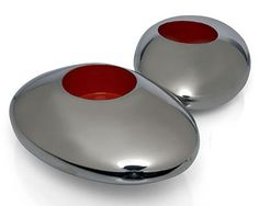 Stainless steel votives by Marcus Vagnby