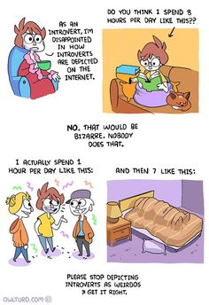 Being an introvert means more than just being shy; it means craving private time. These funny memes and comics are for you, introverts of the world! Shen Comics, Owlturd Comics, Life Comics, Funny Comics, Stupid Funny Memes, Funny Relatable Memes, Haha Funny, Funny Fails, Hilarious