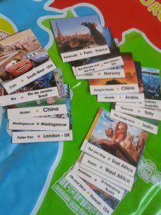 Cabrioles et Cacahuètes: Carte du Monde des films animés / Animated Movies Geo Game Animation, Tarzan, East Africa, Films, Movies, Kung Fu, Peter Pan, Paris France, Geo