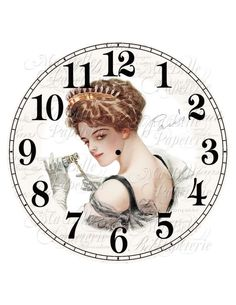 Parisian Clock-DIY French Inspired Clock Face with  a Beautiful Harrison Fisher Lady