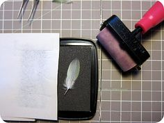 stamping with feathers