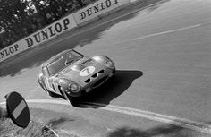The four litre Ferrari 330 LM/GTO driven by Michael Parkes and Lorenzo Bandini, 24 Hours of Le Mans, Le Mans, France, June 1962. It retired due to overheating.