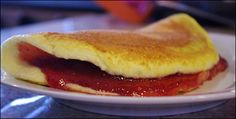 Jelly Omelet - This fluffy, puffy sweet omelet is return to days gone by when berries and jam filled omelets as commonly as cheese.