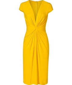 Have these in teal and black and love them!  Saffron Yellow Cap Sleeve Silk Jersey Dress $355