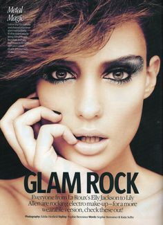 Glam Rock Makeup for Look Magazine