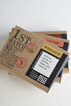 Batch Chocolates, Jane Says. Food Packaging Design, Print Packaging, Box Packaging, Branding Design, Paper Packaging, Blog Design Inspiration, Packaging Design Inspiration, Sandwich Packaging, Chocolate Packaging