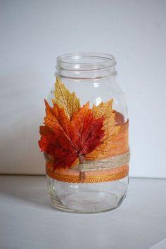autumn-twine-mason-jar-fall-shabby-chic-home-decor-rustic-fall-wedding-decor-thanksgiving-twine-mason-jar-fall-wedding-centerpiece.jpg (570×857)