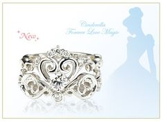 Cinderella Engagement And Wedding Ring Set From Japan Disneystore. When You  Put Them Together, It Becomes Cinderellau0027s Carriage!